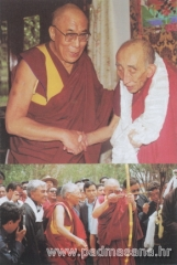 Picture of H.H. Dalai Lama  with Bakula Rinpoche (above) Mr. Chhewang Thupstan with H.H. Dalai Lama & Bakula Rinpoche (below)