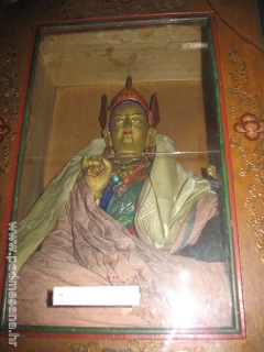 Guru Rinpoche in shrine of the Prayer hall