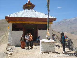 Prayer hall on top of the mountain