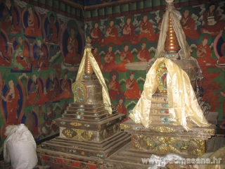 Stupas in Prayer hall