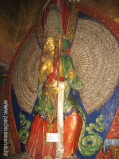 Statue of diety Dukhar (Temple of Namgyal Tsemo)