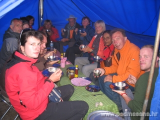 Dinner in our dinning camp