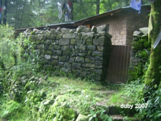 Meditation cottages in the hills over McLeod Ganj